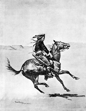Frederic Remington - One of the Fort Keogh Cheyenne Scout Corps, Commanded by Lieutenant Casey