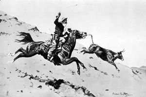 Frederic Remington - Over the Foot-Hills
