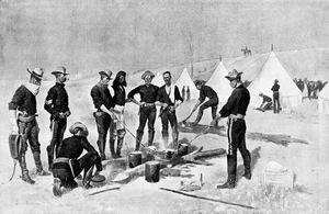 Frederic Remington - Roasting the Christmas Beef in a Cavalry Camp