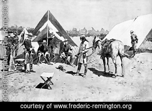Frederic Remington - Satisfying the Demands of Justice, The Head