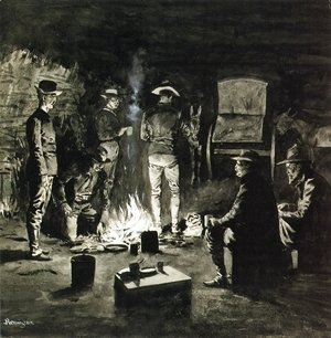 Frederic Remington - Supper in the Corral (aka Camp-fire Texas)