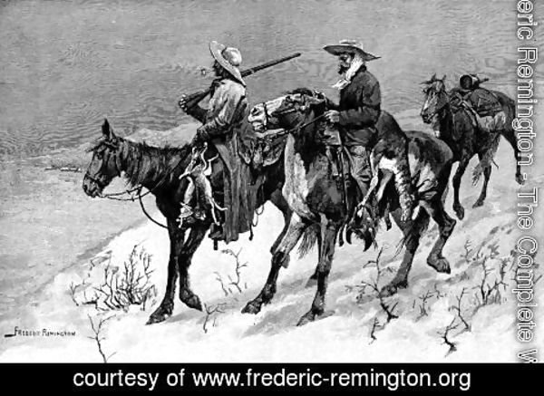 Frederic Remington - Thanksgiving Dinner for the Ranch