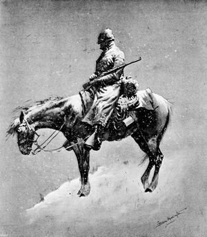 Frederic Remington - The American Tommy Atkins in a Montana Blizzard