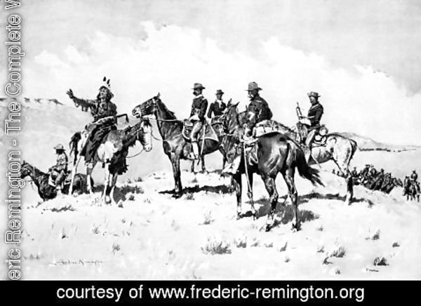 Frederic Remington - The Borderland of the Other Tribe