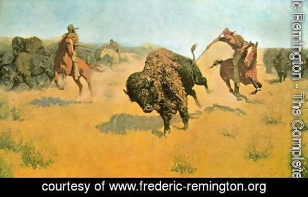 Frederic Remington - The Buffalo Runners