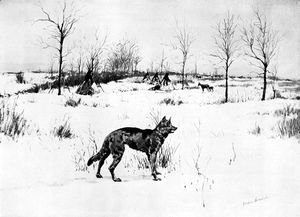 Frederic Remington - The Hungry Winter
