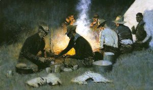 Frederic Remington - The Hunters' Supper