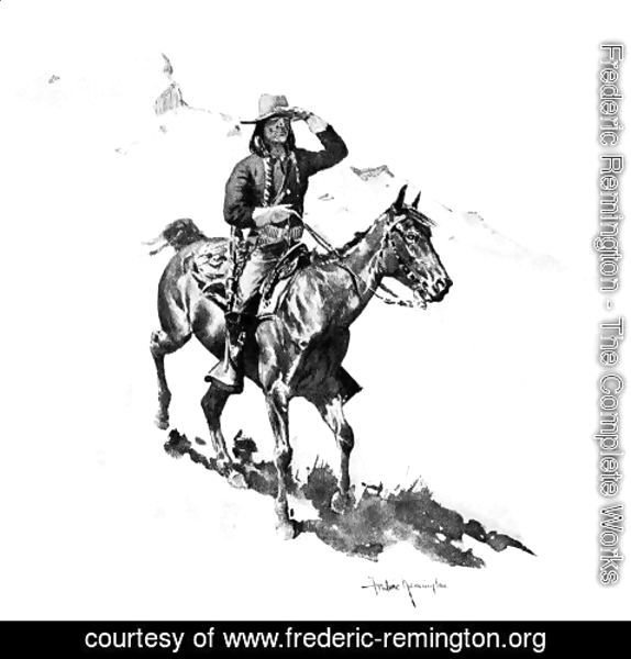 Frederic Remington - The Indian Soldier