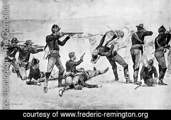 Frederic Remington - The Opening of the Fight at Wounded Knee