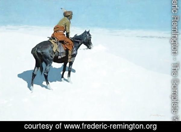 Frederic Remington - The Scout, Friends or Foes