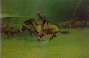 Frederic Remington - The Stampede