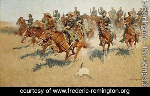 Frederic Remington - On the Southern Plains 1907