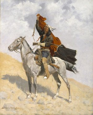 Frederic Remington - The Blanket Signal 1896