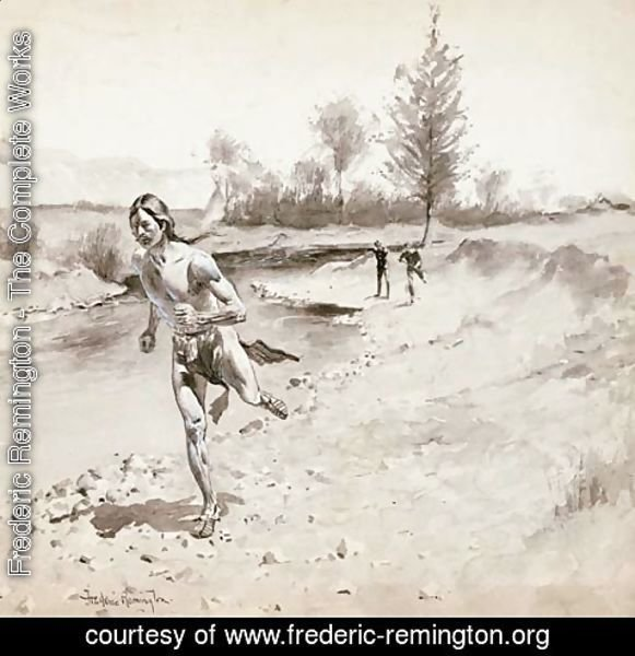 Frederic Remington - The Man Continued His Limber Flight