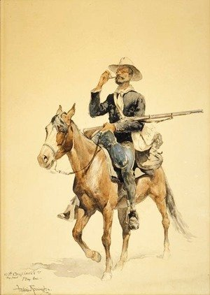 Frederic Remington - A Mounted Infantryman