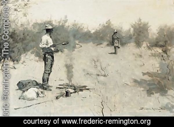 Frederic Remington - Hello, Jose (Unexpected Guest)