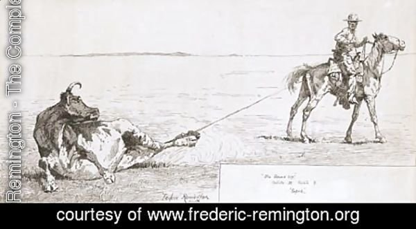 Frederic Remington - Roped