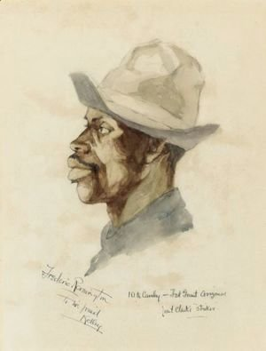 Frederic Remington - Head Of A Cavalry Trooper