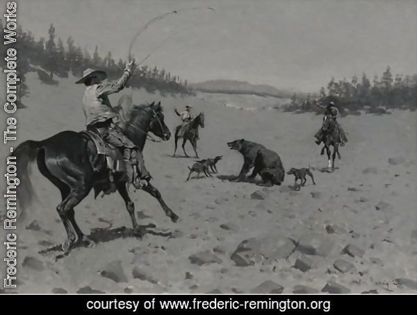The Bear At Bay (Roping A Grizzly)