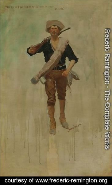 Frederic Remington - Thre'Ill Be A Hot Time In The Old Town To-Night My Baby.