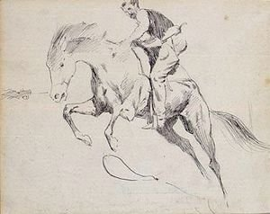 Frederic Remington - Sketch of Turn him loose, bill