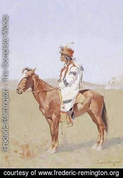 Frederic Remington - Blackfoot indian chief