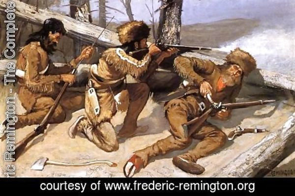 Frederic Remington - A Brush With The Redskins