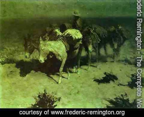 Frederic Remington - A Pack Train