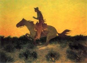 Frederic Remington - Against The Sunset