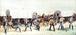 Frederic Remington - Attack On The Supply Train
