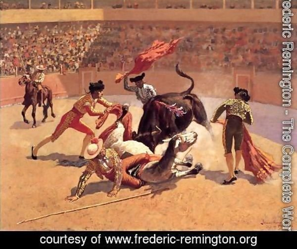 Frederic Remington - Bull Fight In Mexico
