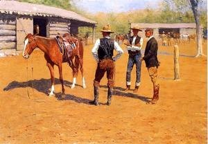 Frederic Remington - Buying Polo Ponies In The West