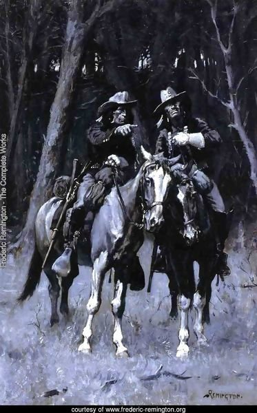 Cheyenne Scouts Patrolling The Big Timber Of The North Canadian Oklahoma