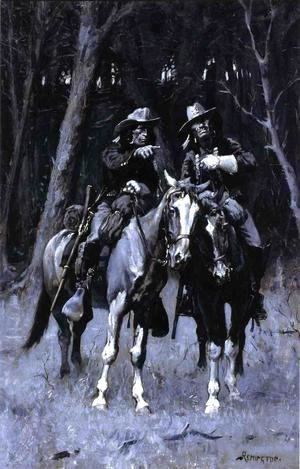 Frederic Remington - Cheyenne Scouts Patrolling The Big Timber Of The North Canadian Oklahoma