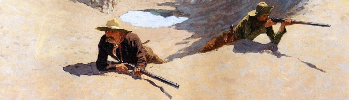 Frederic Remington - Fight For The Water Hole