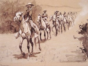 Frederic Remington - In The Desert