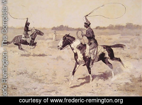 Frederic Remington - It Was To Be A Lasso Duel To The Death