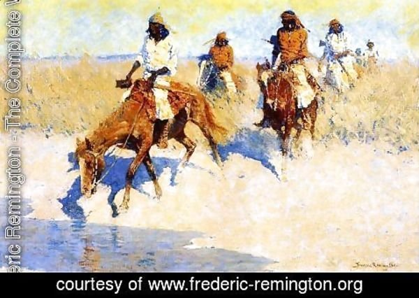 Frederic Remington - Pool In The Desert
