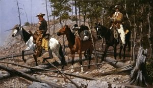 Frederic Remington - Prospecting For Cattle Range