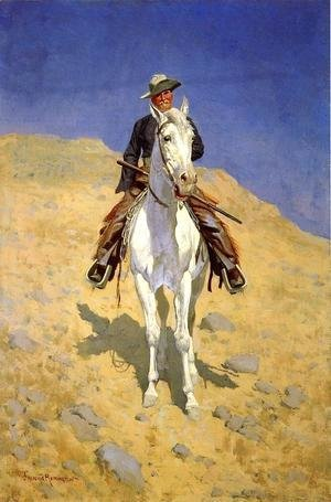 Frederic Remington - Self Portrait On A Horse