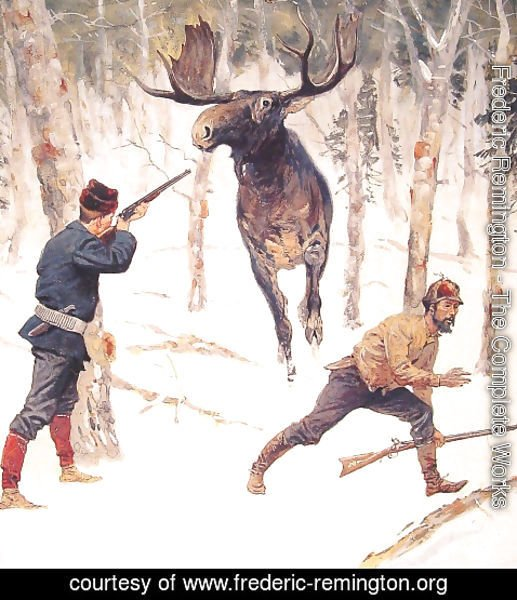 Frederic Remington - The Moose Hunt