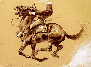 Frederic Remington - Ugly   Oh The Wild Charge He Made