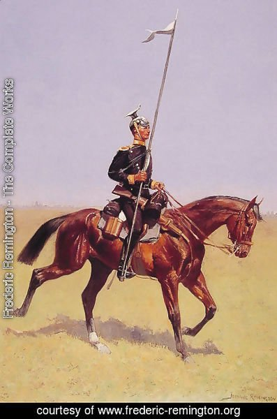 Frederic Remington - Uhlan   Lancer