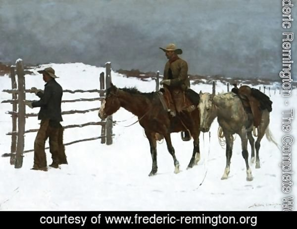Frederic Remington - The Fall Of The Cowboy