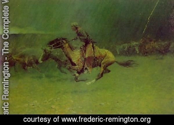 Frederic Remington - Remington Stampede